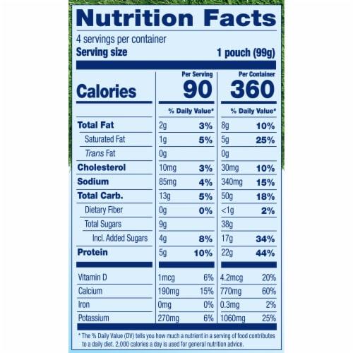 Stonyfield® Organic Kids Lowfat Strawberry Banana Yogurt Pouches Perspective: bottom
