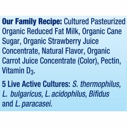 Stonyfield® Organic Kids Strawberry Lowfat Yogurt Perspective: bottom