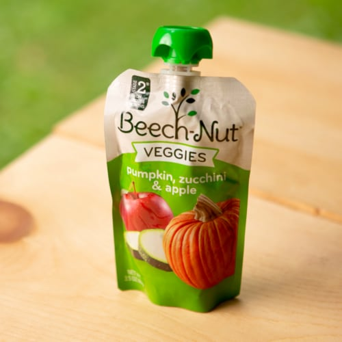 Beech-Nut Veggies Pumpkin Zucchini & Apple Stage 2 Baby Food Perspective: bottom