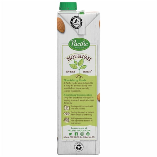 Pacific Foods™ Organic Almond Plant-Based Beverage Perspective: bottom