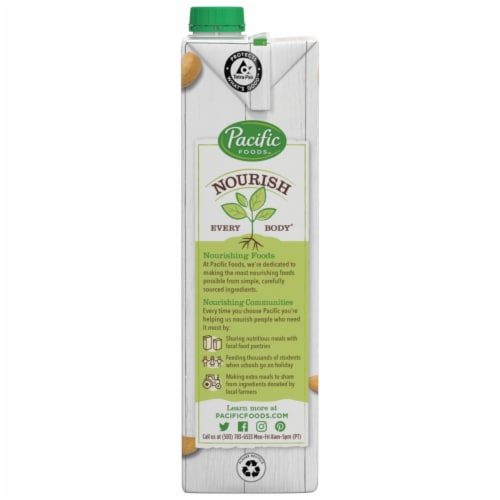 Pacific Foods Unsweetened Original Cashew Non-Dairy Beverage Perspective: bottom