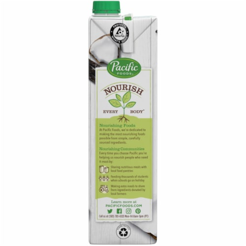 Pacific Foods™ Organic Coconut Unsweetened Vanilla Plant-Based Beverage Perspective: bottom