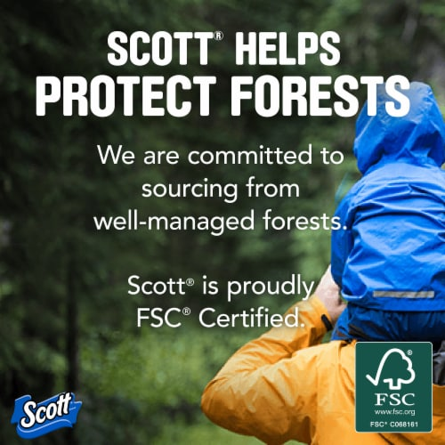 Scott 1000 Sheets Per Roll Bath Tissue Perspective: bottom