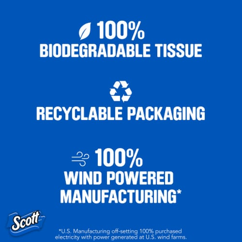 Scott ComfortPlus Double Roll Toilet Paper Perspective: bottom