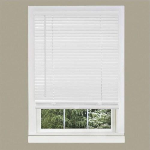 Achim GII Morningstar 45 x 64 Inch Cordless Vinyl Window Light Filtering Blinds Perspective: bottom