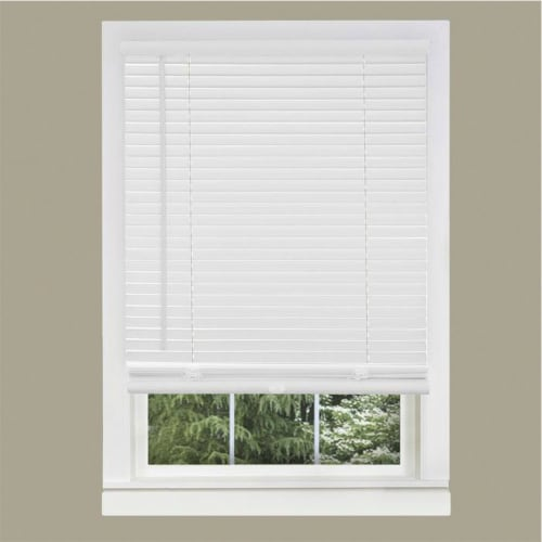 Achim GII Morningstar 60 x 64 Inch Cordless Vinyl Window Light Filtering Blinds Perspective: bottom