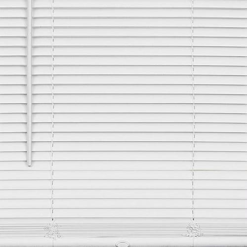 "Cordless GII Deluxe Sundown 1"" Room Darkening Mini Blind 39x64 - Pearl White Perspective: bottom"