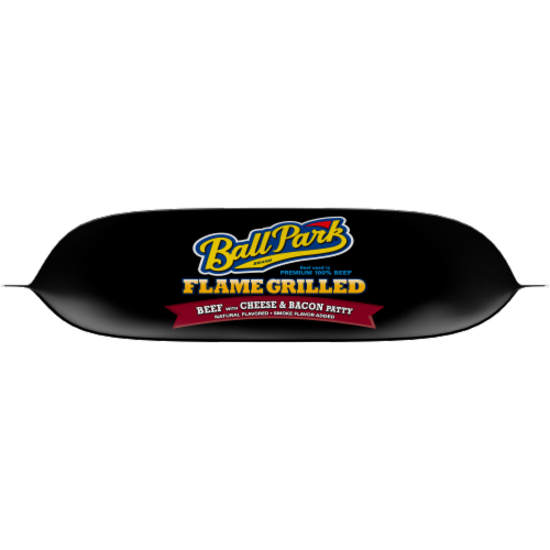 Ball Park® Flame Grilled Fully Cooked Beef with Cheese & Bacon Patties Perspective: bottom