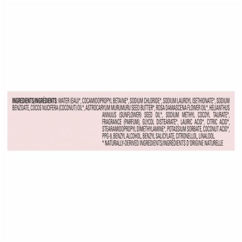 Love Beauty and Planet Sulfate-Free Murumuru Butter & Rose Color-Treated Hair Vegan Shampoo Perspective: bottom