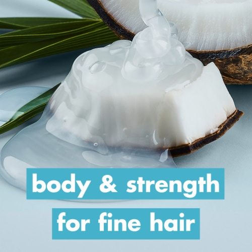 Love Beauty and Planet Silicone & Sulfate-Free Coconut Water & Mimosa Flower Vegan Shampoo Perspective: bottom