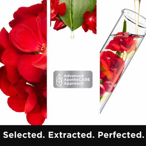 ApotheCARE Essentials Rosehip Oil Geranium Aloe Vera Shampoo Perspective: bottom