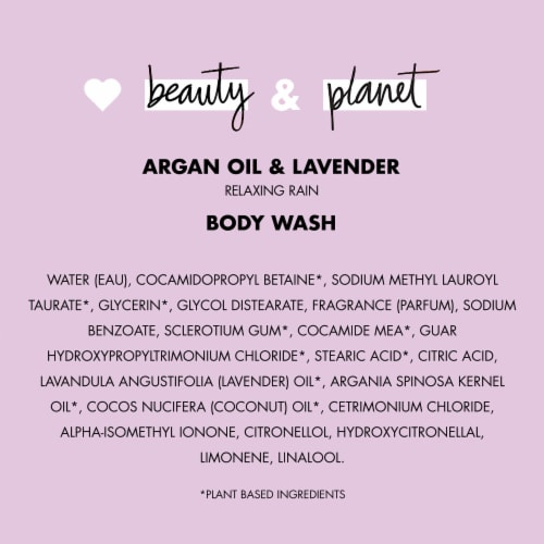Love Beauty and Planet Argan Oil & Lavender Relaxing Rain Body Wash Perspective: bottom