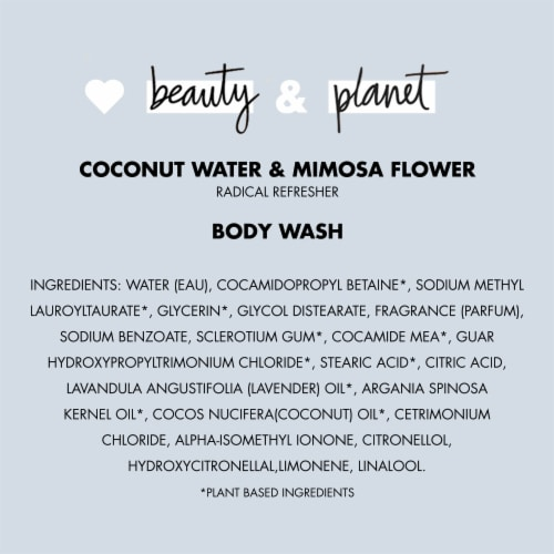 Love Beauty and Planet Radical Refresher Coconut Water & Mimosa Flower Body Wash Perspective: bottom