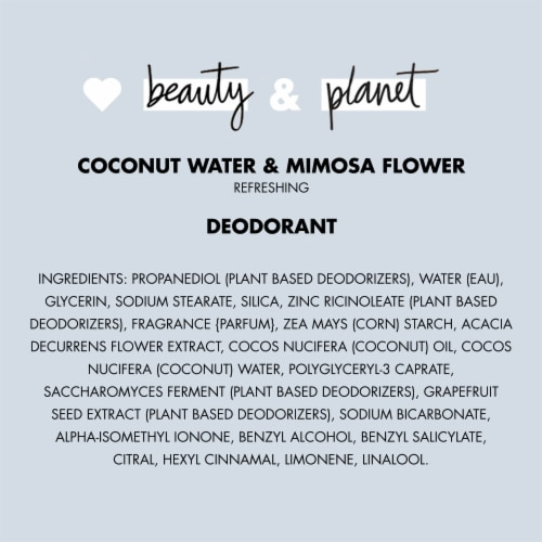 Love Beauty and Planet Aluminum-Free Coconut Water & Mimosa Flower Vegan Deodorant Stick Perspective: bottom