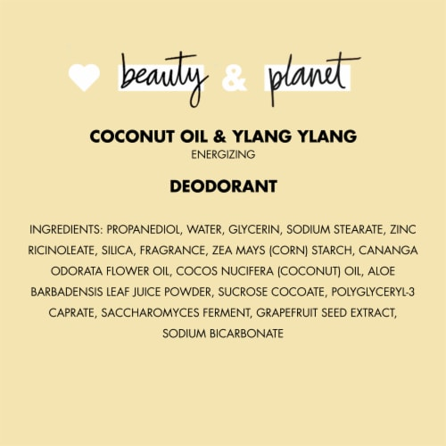 Love Beauty and Planet Aluminum-Free Coconut Oil & Ylang Ylang Vegan Deodorant Stick Perspective: bottom