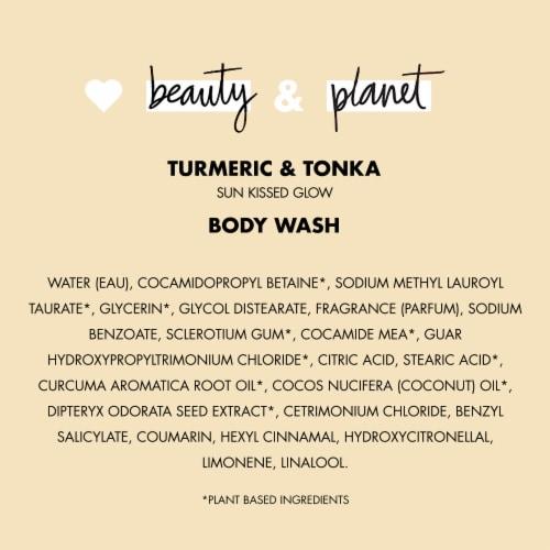 Love Beauty and Planet Turmeric & Tonka Essence Body Wash Perspective: bottom