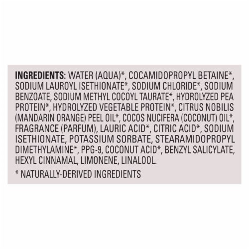 Love Beauty and Planet Silicone-Free Nourishing Sun-Kissed Mandarin 5-in-1 Vegan Shampoo with Biotin Perspective: bottom