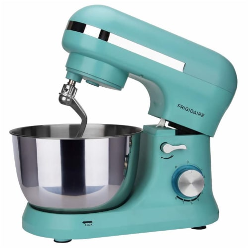 Frigidaire 4.5 Liter 8 Speed Electric Countertop Stand Mixer w/Accessories, Blue Perspective: bottom