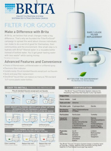 Brita On Tap Faucet Water Filter System Perspective: bottom