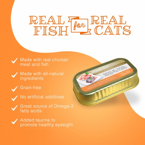 Snappy Tom Ultimates Lean Chicken and Fish in Broth 3 oz (Pack of 12) Perspective: bottom