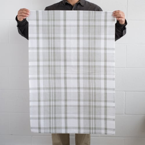 Now Designs Extra Large Wovern Cotton Kitchen Dish Towels London Gray Set of 3 Perspective: bottom