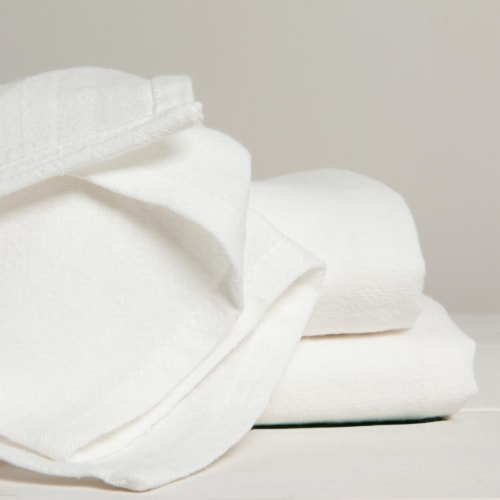 Now Designs Flour Sack Soft Cotton Kitchen Dish Towels Unbleached Set of 3 Perspective: bottom
