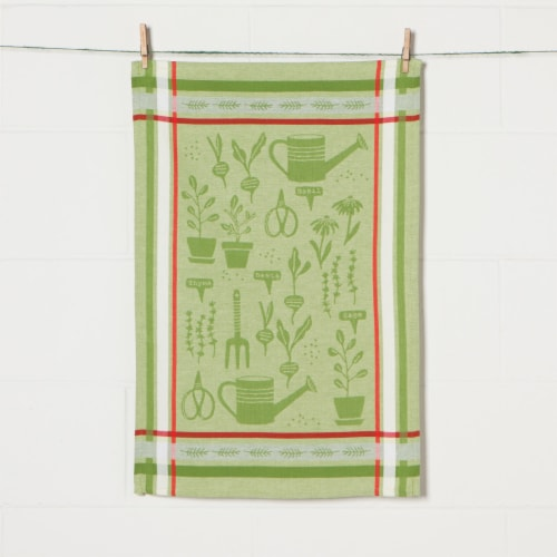 Now Designs Jacquard 100% Woven Cotton Kitchen Dish Towels Garden Set of 2 Perspective: bottom