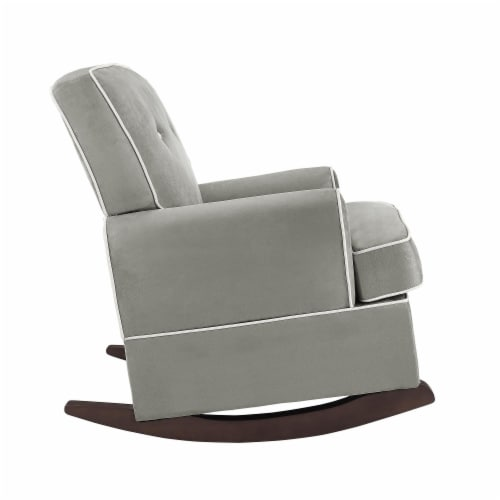 Baby Relax Tinsley Contemporary Upholstered Rocker in Gray Perspective: bottom