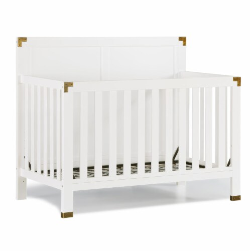 Baby Relax Miles 5-in-1 Convertible Crib, White Perspective: bottom
