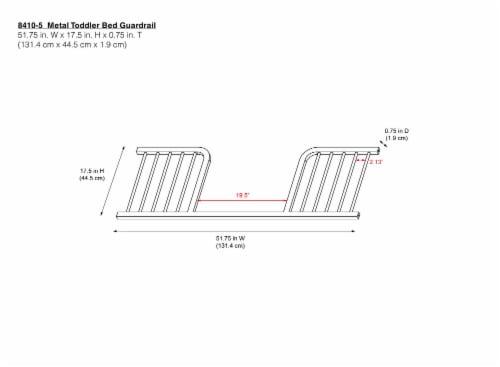 Baby Relax Juniper Metal Toddler Guardrail Perspective: bottom