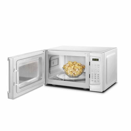 Danby 700W 0.7 Cubic Feet Convenient User-Friendly Countertop Microwave, White Perspective: bottom