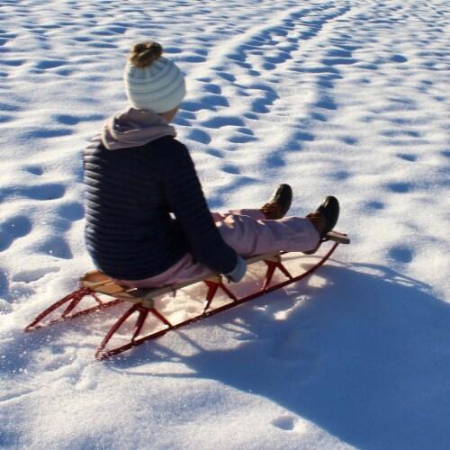 Paricon 1054 Flexible Flyer Metal Runner Steel & Wood Snow Slider Sled, 54 inch Perspective: bottom