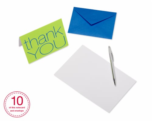American Greetings Bold Multicolored Thank-You Cards with Envelopes Perspective: bottom