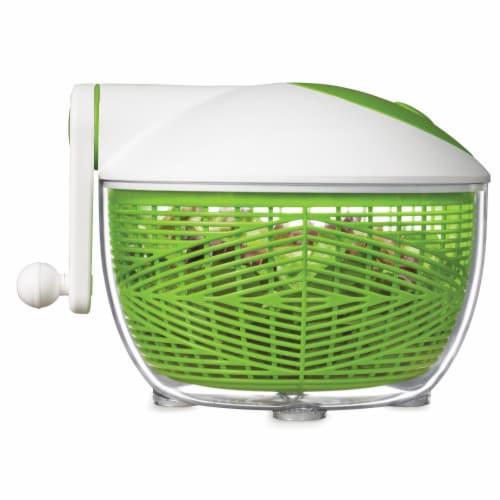 Starfrit 5 qt Salad Spinner, Green & White Perspective: bottom