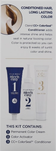 Clairol Natural Looking Nice'n Easy Permanent 6G Light Golden Brown Color Perspective: bottom