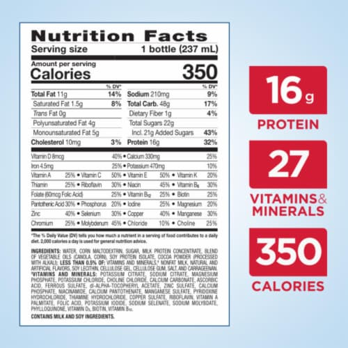 Ensure® Plus Milk Chocolate Ready-to-Drink Nutrition Shakes Perspective: bottom
