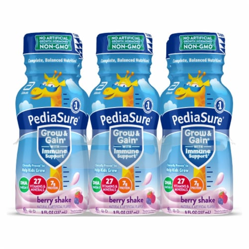 PediaSure Grow & Gain Berry Nutrition Shakes Perspective: bottom