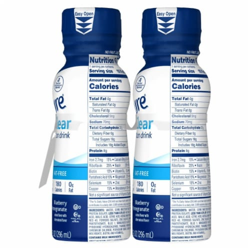Ensure Clear Blueberry Pomegranate Ready-to-Drink Nutrition Drink Perspective: bottom