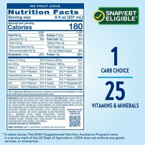 Glucerna Creamy Strawberry Ready-to-Drink Nutrition Shakes Perspective: bottom