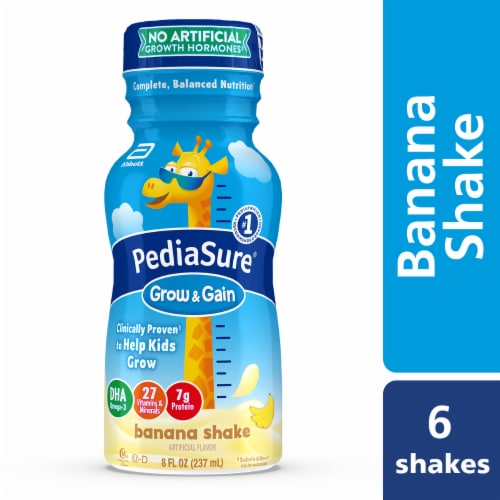 PediaSure Grow & Gain Banana Ready-to-Drink Kids' Nutritional Shakes Perspective: bottom