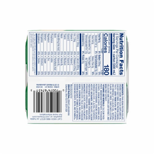Ensure Vanilla Plant-Based Protein Nutritional Shake Perspective: bottom