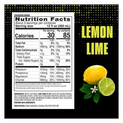Pedialyte Sport Lemon Lime Electrolyte Solution Perspective: bottom