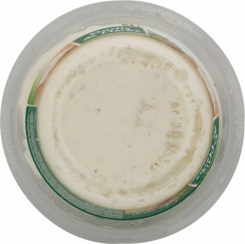 President Rondele Garlic & Herbs Spreadable Cheese with Crackers Perspective: bottom