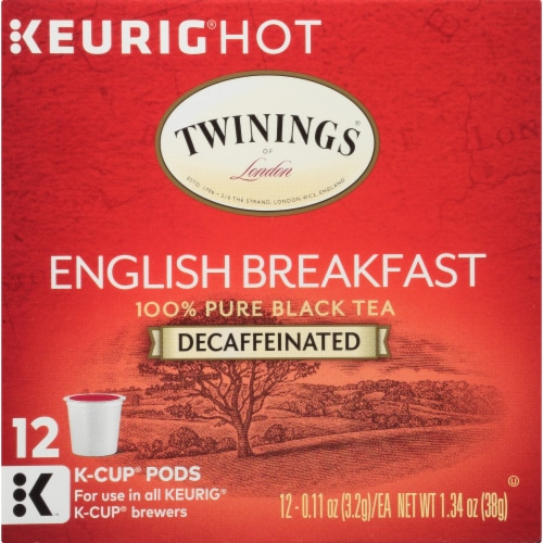 Twinings Of London Decaffeinated English Breakfast Tea K-Cup Pods Perspective: bottom