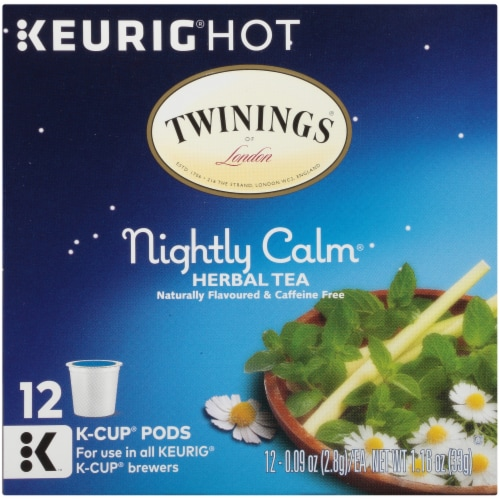 Twinings® of London Nightly Calm Herbal Tea K-Cup Pods Perspective: bottom