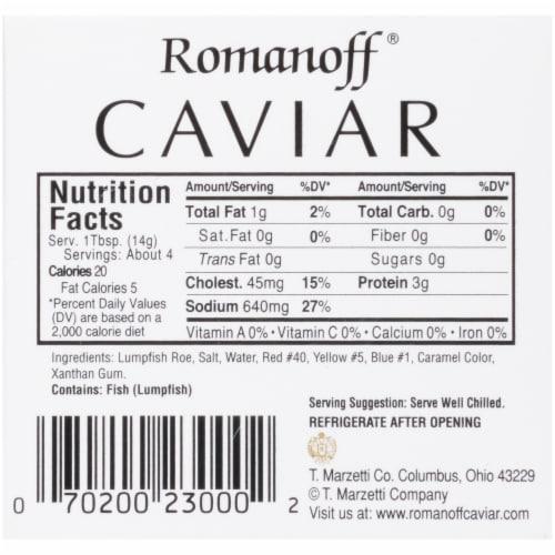 Romanoff Black Lumpfish Caviar Perspective: bottom