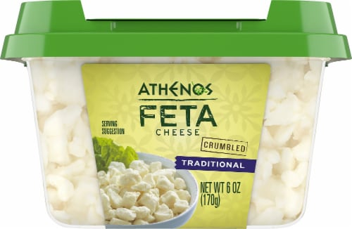 Athenos Crumbled Traditional Feta Cheese Perspective: bottom