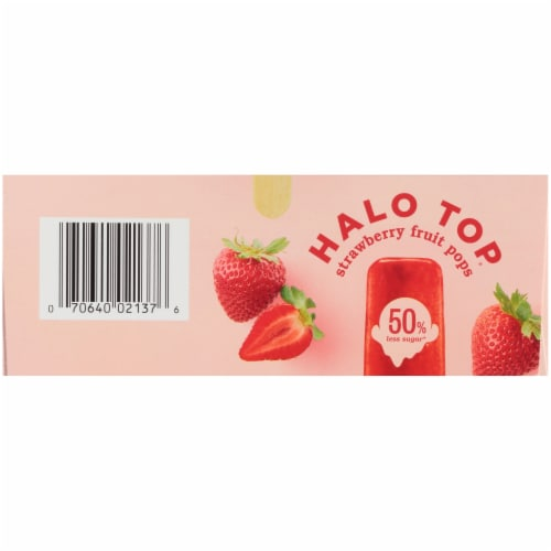 Halo Top Strawberry Fruit Pops Perspective: bottom