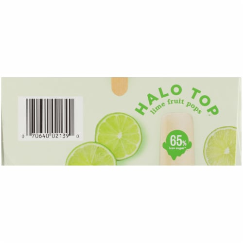 Halo Top Lime Fruit Pops Perspective: bottom