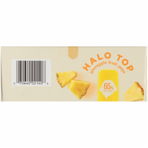 Halo Top Pineapple Fruit Pops Perspective: bottom